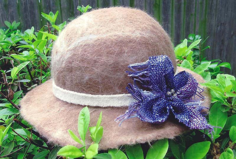 Dotty\'s Felted Hat